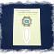 Third Eye Chakra Bookmark ~ Glass Tile ~ Antique Silver