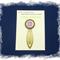 Crown Chakra Bookmark ~ Glass Tile ~ Antique Bronze