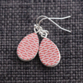 Printed Wooden Teardrop Earrings