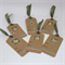 Christmas Gift Tags - Kraft with Green Seam Binding Ribbon