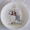 Hand painted plate with A rabbit and a mouse