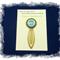 Throat Chakra Bookmark ~ Glass Tile ~ Antique Bronze