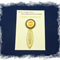 Solar Plexus Chakra Bookmark ~ Glass Tile ~ Antique Bronze