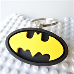BATMAN BAG TAG - a handmade resin bag tag inspired by the iconic Batman symbol
