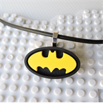 BATMAN NECKLACE - a handmade resin pendant inspired by the iconic Batman symbol