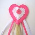 Dress up Princess Crown and Wand, girls birthday hat, Pink Wand