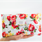 Nappy Wallet - Pretty Red Floral outer, coordinating Floral inside. Baby, Bag.