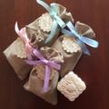 20 SOAP + Burlap Bag WEDDING Favors, BABY Shower Soap Favors, Free Shipping!