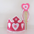 Pink and White Crown and Wand, Princess Fairy Tiara