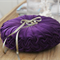 Vintage Style Velvet Wedding Ring Cushion - Dark Purple