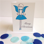 "6 x ""Christmas Fairy"" Cards  FREE POSTAGE"