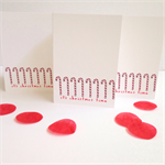 6 x Candy Cane Christmas Cards   FREE POSTAGE