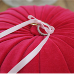 Vintage Style Velvet Wedding Ring Cushion - Hot Pink