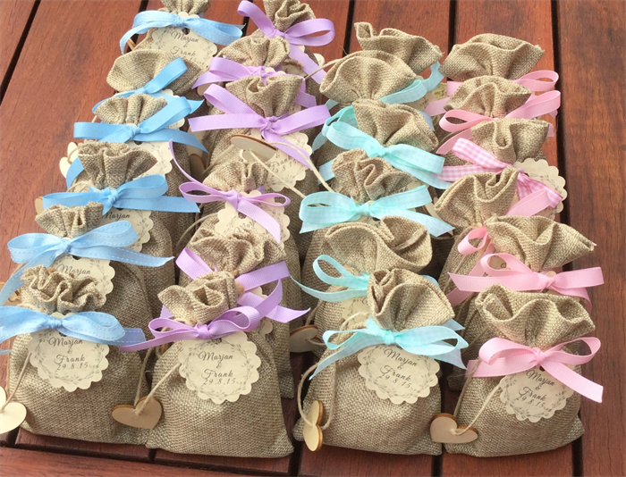 20 SOAP + Burlap Bag WEDDING Favors, BABY Shower Soap Favors, Free Shipping!