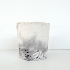 Tealight Candle Holder - Two Tone Marble Smoke