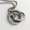 Russian Rings Necklace, Connecting Rings Jewellery, Personalised Necklace