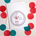 6 x Reindeer Christmas Cards   FREE POSTAGE