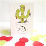 6 x Cactus Christmas Cards   FREE POSTAGE