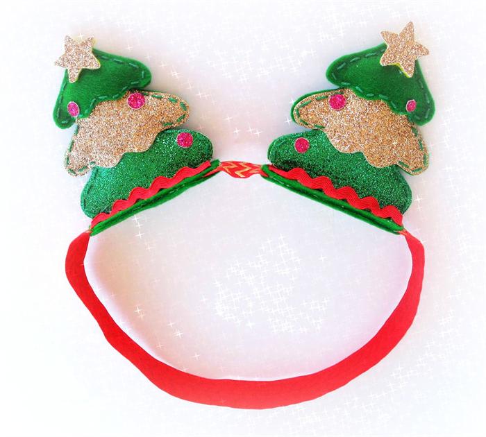 Christmas Headband Png.Christmas Tree Headband Crown Pure Wool Felt Christmas