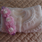 Size 0-6 month hand knitted baby Jacket (white) & matching headband: OOAK
