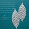Leaves - Enamel & Sterling Earrings