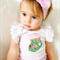 Christmas Stocking Onesie - baby, girl, pink, festive