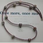 Lavender, Gray & White Long Beaded Necklace