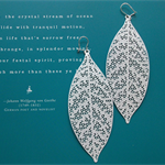 Long Sterling Silver & White Enamel Dangle Earrings