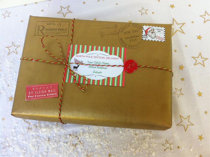 personalised package with letter from santa truly unique the