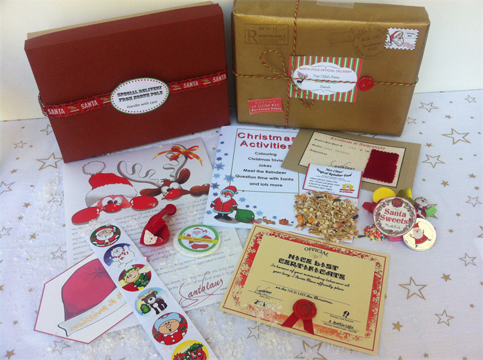 packages from santa letters personalised package with letter from santa truly unique 8388