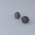 Burst of Colour Grey Fused Glass Earrings