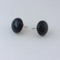 Burst of Colour Black Fused Glass Earrings
