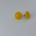 Burst of Colour Yellow Fused Glass Earrings