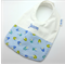 Baby Infant Bib Personalised Cotton Fabric, Bamboo Toweling Backed Snap Fastened