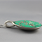 Upcycled/recycled vintage spoon resin pendant necklace, cherry blossom print