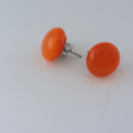 Burst of Colour Orange Fused Glass Earrings