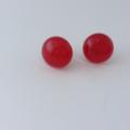 Burst of Colour Red Fused Glass Earrings