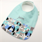 Baby Infant Bib Personalised, Puppy Cotton Fabric, Bamboo Toweling Backed.