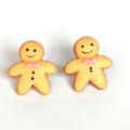Gingerbread studs - Gingerbread Man / Men Stud Earrings - Kawaii Kitsch