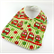 Christmas Baby Bib, Cotton Owl Fabric, Bamboo Toweling Backed, Snap Fastened.