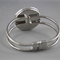 Women's round resin silver cuff bracelet bangle, cherry blossom tree art print