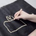 Pink Owls Chalkboard Blackboard Placemat, Travel Chalkmat Kids Placemat Toy