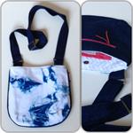 'shibori' cross body handbag