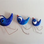 Flying birds, plaster, wall art, sculpture, unique, handmade, decoration