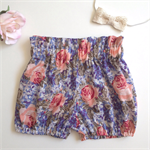 Size 0 blue floral bloomers