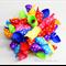 Korker Ribbon Hair Clip - Rainbow Spots