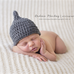 Sprout Hat / Grey / Newborn Photography Prop / Baby Boy
