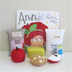 Apple Pie Felt Play Food Set, Story Telling Aid