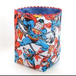 "Reversible Fabric Bucket - ""Superman"" (15cm sq base)"