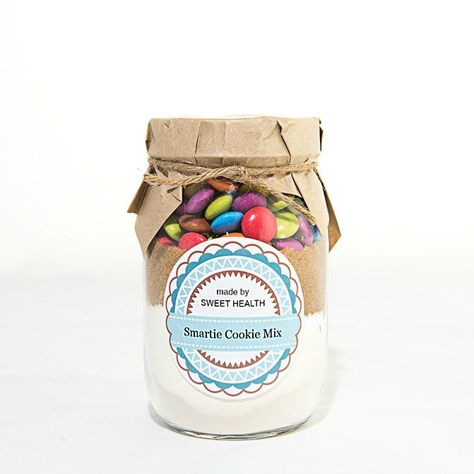 Smartie Jar Cookie Mix (makes 12 cookies) | Sweet Health on